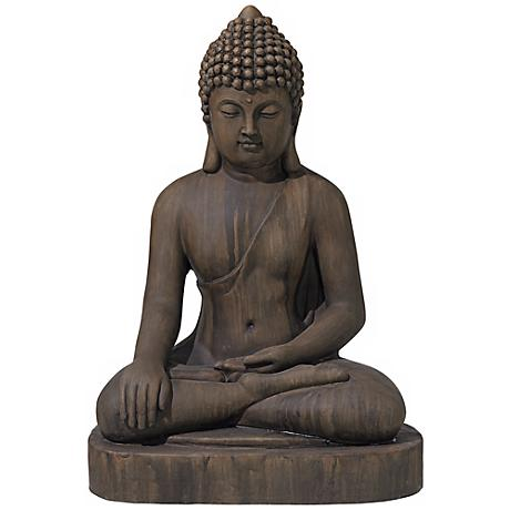 "Sitting Buddha 29 1/2"" High Outdoor Statue"