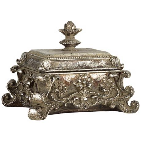 Ara Antique Silver Decorative Jewelry Box
