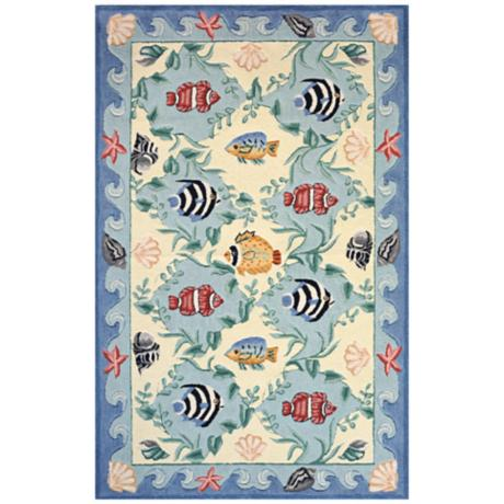 Momeni Coastal CC-01 Blue Area Rug