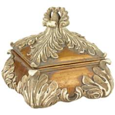 Acanthus Leaf Gold Finish Jewelry Box
