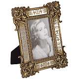 Florentine Antique Gold Mirror 4x6 Photo Frame