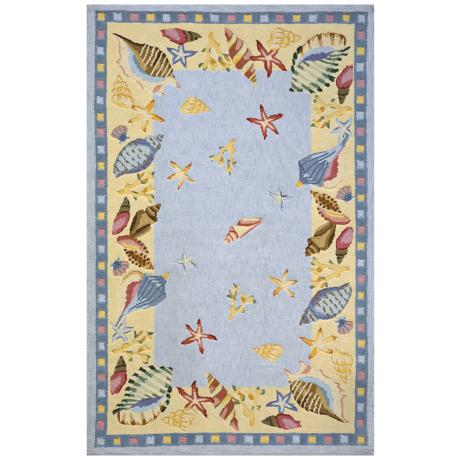 Momeni Coastal CC-04 Light Blue Area Rug