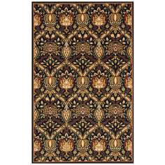 Momeni Nouveau NV-01 Black Area Rug
