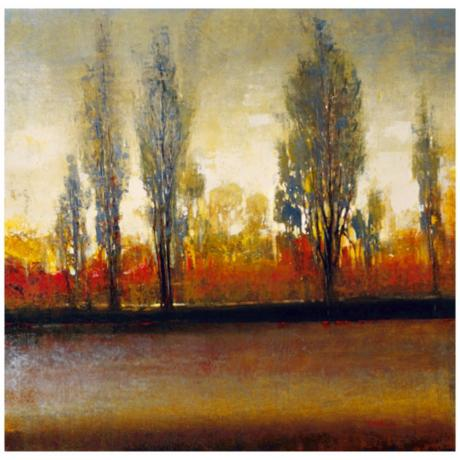 "River Edge 30"" Square Giclee Wall Art"