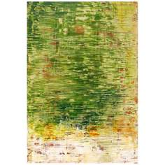 "Hand Painted Chartreuse Expression 24"" High Wall Art"
