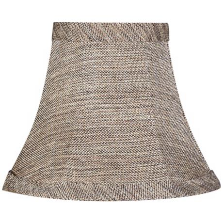 Black Linen Tweed Shade 3x6x5 (Clip-On)