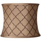 Brown Moroccan Tile Drum Shade 13x14x11 (Spider)