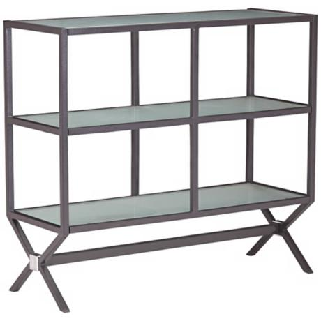 Zuo Xert Modern Smoke and Glass Buffet Console