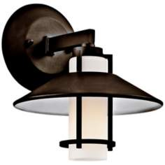 "Kichler Tavistock 9"" High Olde Bronze Outdoor Wall Light"