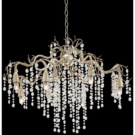 "Possini Euro Branches 30"" Wide Silver Champagne Chandelier"