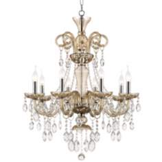 "Traditional 28"" Wide 8-Light Crystal Chandelier"