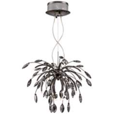 Possini Euro Modern Crystal Black Chrome Pendant Light