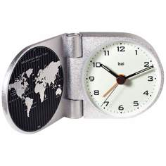 Gotham Solid Aluminum Greenwich Travel Alarm Clock
