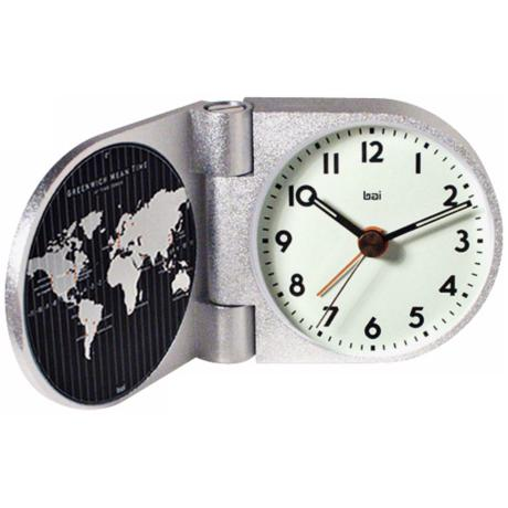 Landmark Solid Aluminum Greenwich Travel Alarm Clock