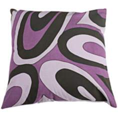 "Purple 18"" Square Decorative Pillow With Hidden Zipper"