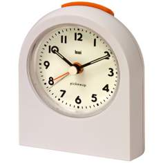 Pick-Me-Up White Alarm Clock