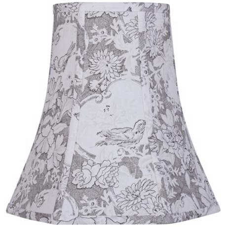 Brown Toile Lamp Shade 6x11x11 (Spider)