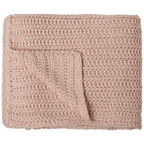 Chesterfield Pink Shell Tone Decorative Throw Blanket