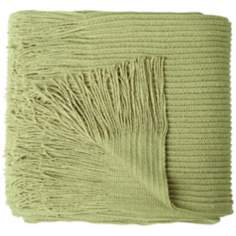 Cumberland Apple Green Decorative Throw Blanket