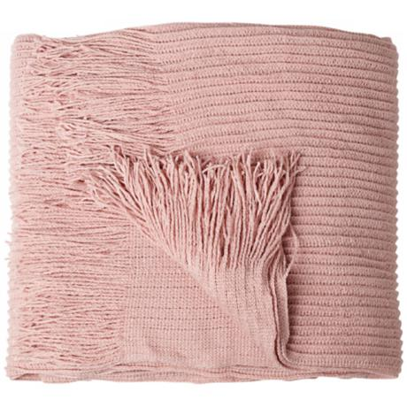 Cumberland Blush Tone Decorative Throw Blanket