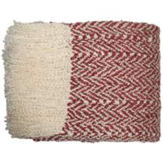 Dartmouth Rose and Cream Throw Blanket