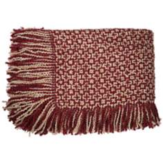 Dartmouth Berry and Cream Throw Blanket