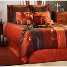 Paprika 10-Piece Queen Duvet Bed Set