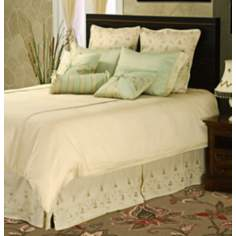 Cream And Vintage Green Lisac 9-Piece Queen Bedding Set