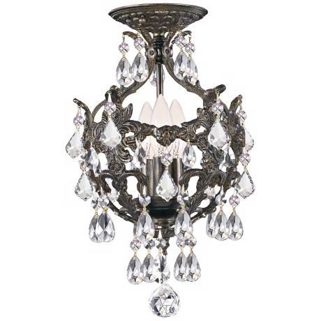 "Crystorama Legacy 3-Light 14"" High Bronze Ceiling Light"