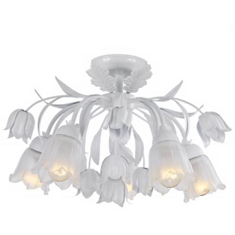 "Crystorama Southport Collection 22"" Wide White Ceiling Light"