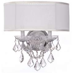 "Crystorama Brentwood 2-Light 15 1/2"" Wide Chrome Wall Sconce"