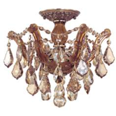 "Crystorama Maria Theresa 13 1/2"" Wide Crystal Ceiling Light"