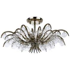 "Crystorama Metro 20 1/2"" Wide Antique Silver Ceiling Light"