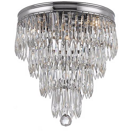 "Crystorama Chloe 10 1/2"" High Chrome Ceiling Light Fixture"