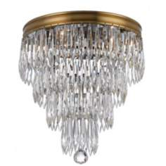 "Crystorama Chloe 10 1/2"" high Brass Ceiling Light Fixture"