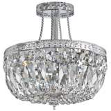 "Crystorama Traditional 12"" High Chrome Crystal Ceiling Light"