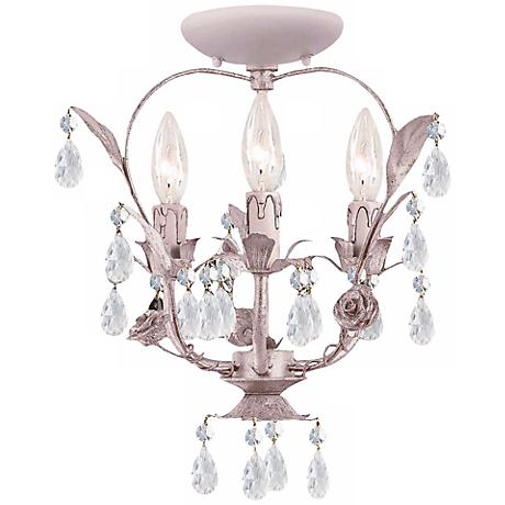"Crystorama Paris Flea Market 15"" High Crystal Ceiling Light"