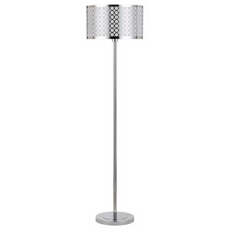 Portico Chrome Finish Floor Lamp with Laser Cut Shade
