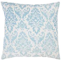 "Damask 18"" Square Decorative Pillow With Hidden Zipper"