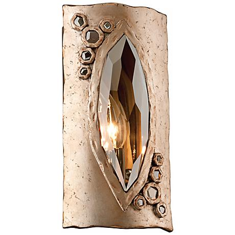 "Corbett After Party 11 1/2"" High Smoke Crystal Wall Sconce"