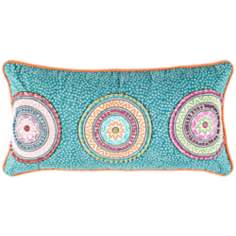 "Decorative 21"" Wide Modern Pillow With Hidden Zipper"