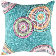 "Decorative 18"" Square Modern Pillow With Hidden Zipper"