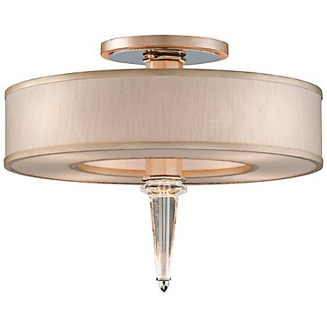 "Corbett Harlow 20"" Wide Ivory Ice LED Ceiling Light Fixture"