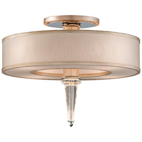 "Corbett Harlow 20"" Wide Ivory Ice Ceiling Light Fixture"