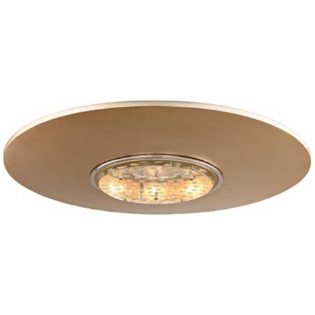 "Corbett Quasar Silver Leaf 18"" Wide LED Ceiling Light"