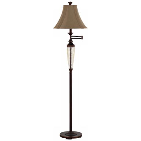 Redfield Restoration Bronze Swing Arm Floor Lamp
