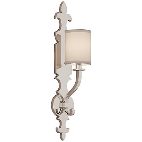 "Corbett Esquire 23 3/4"" High Polished Nickel Wall Sconce"