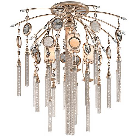 "Corbett Bliss 28"" High Topaz Leaf Ceiling Light Fixture"