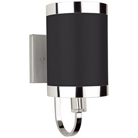 "Artcraft Madison 10"" High Black and Chrome Wall Sconce"