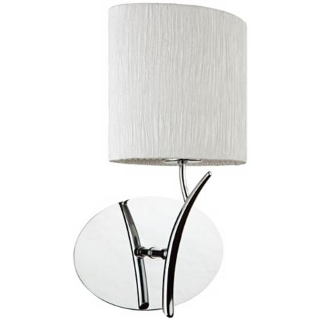"Artcraft Sloan 13 1/2"" High Silk and Chrome Wall Sconce"